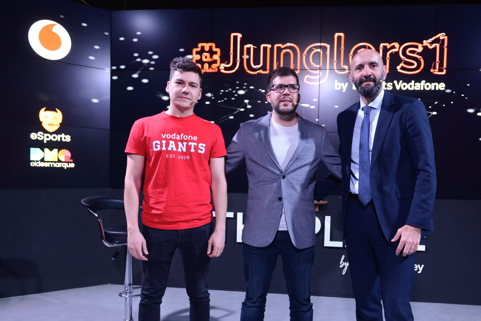 Lozark and Monchi with the programme's presenter