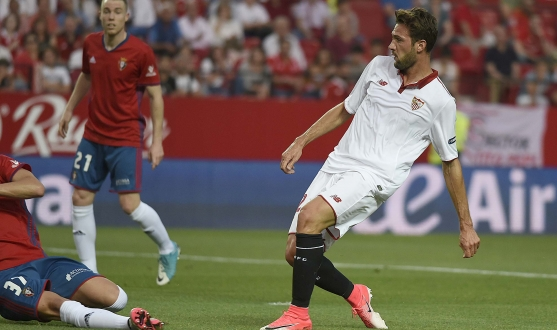 Franco Vazquez scores against Osasuna