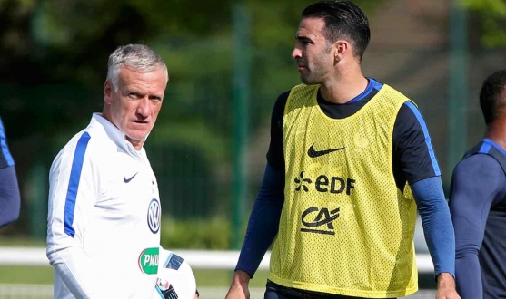 Deschamps and Rami during training