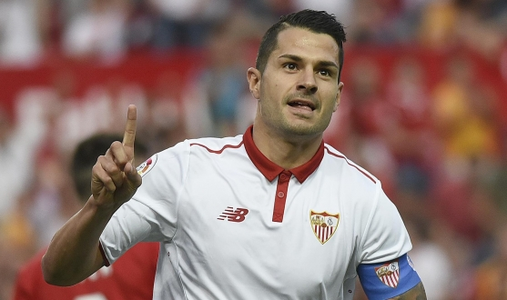 Vitolo during the match against Osasuna