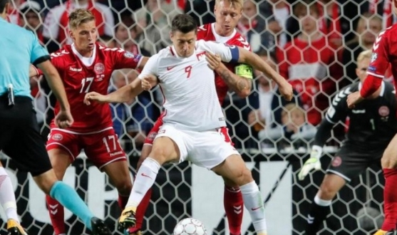 Kjaer of Sevilla FC plays for Denmark