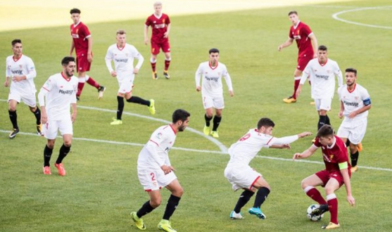 Partido entre el Liverpool y el Sevilla en la Youth League