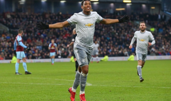 Martial del Manchester United ante el Burnley