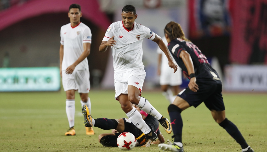 Muriel playing for Sevilla FC