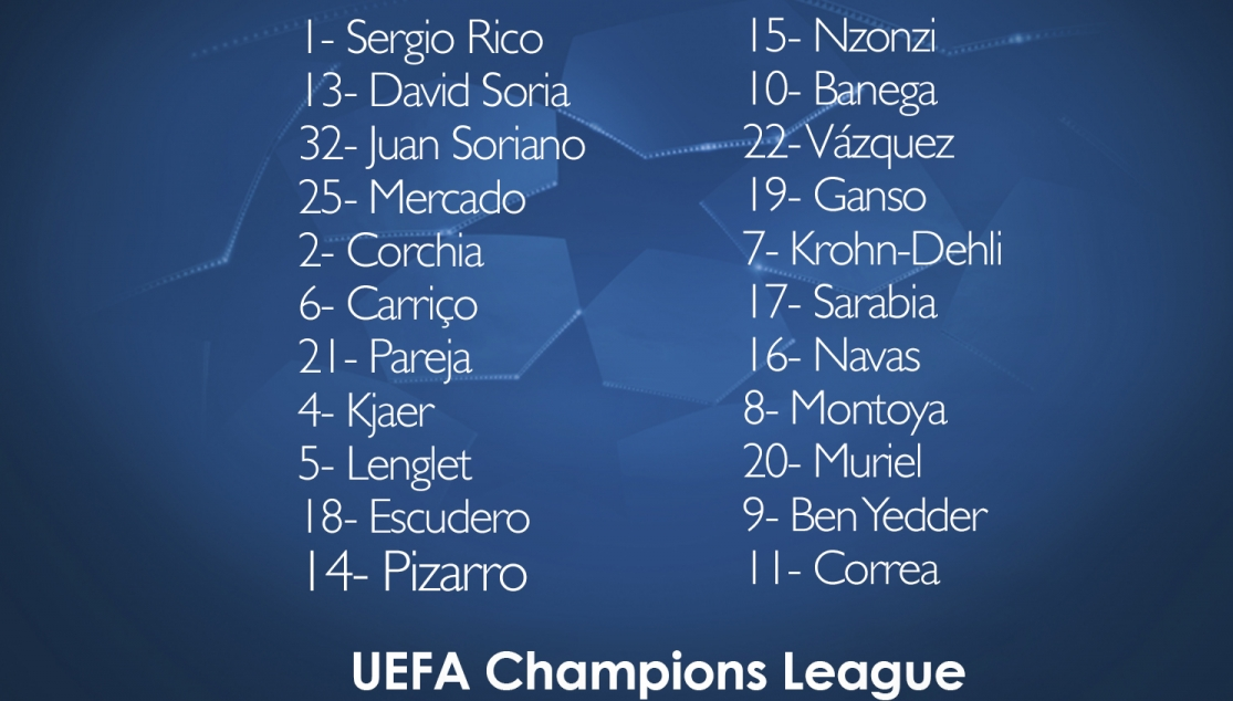 Squad list for Sevilla vs Liverpool