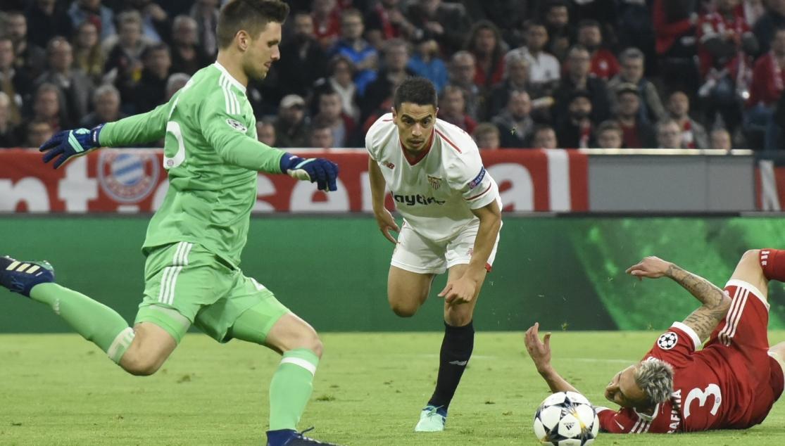 Ben Yedder del Sevilla FC ante el Bayern