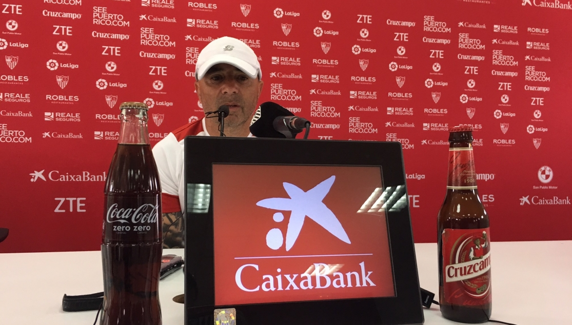 Jorge Sampaoli in a press conference