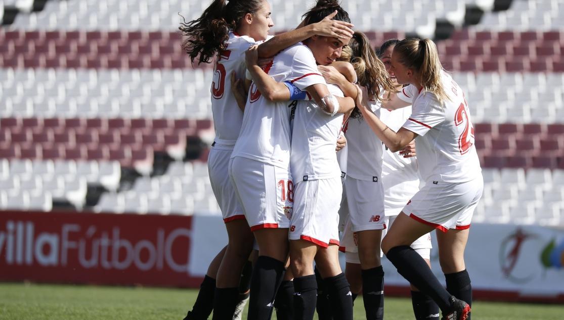 Celebración de gol Sevilla FC Femenino