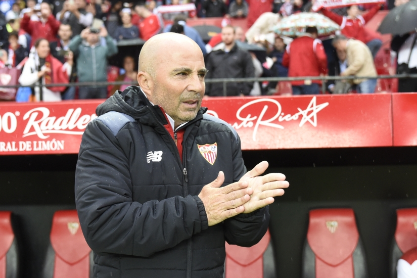 Jorge Sampaoli during Sevilla FC-Celta